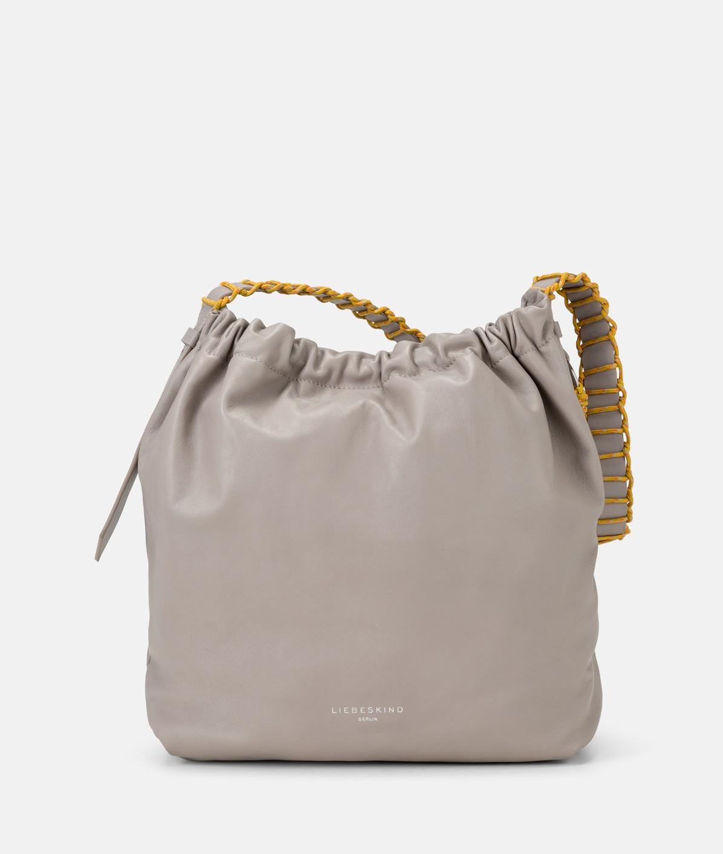 Hobo Bag mit geraffter Oberseite