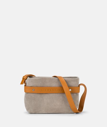 Shoulder bag with appliquéd contrasting ribbon from liebeskind