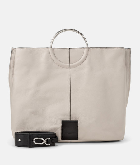 Shopper with round metal handles from liebeskind