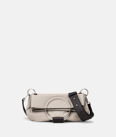 Fold-over clutch with large metal rings from liebeskind