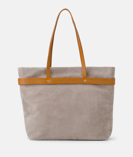 Shopper with appliquéd contrast ribbon from liebeskind