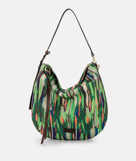 Hobo bag made of printed neoprene from liebeskind