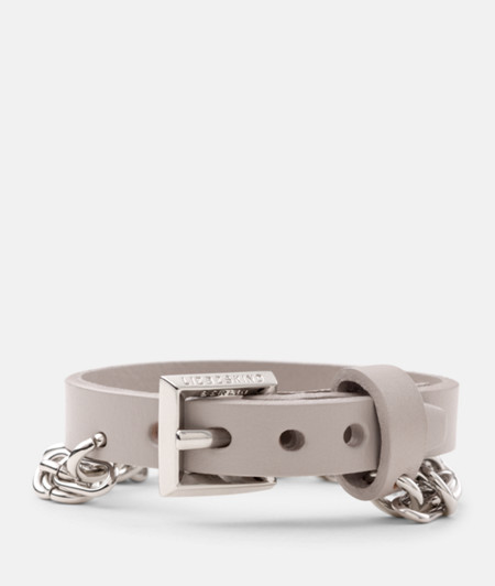 Leather bracelet with chain from liebeskind