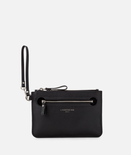 Flat leather make-up bag from liebeskind