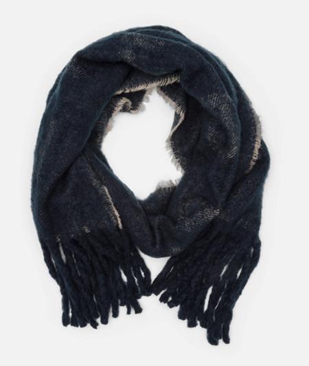 Écharpe en laine animée d'une inscription logo de liebeskind