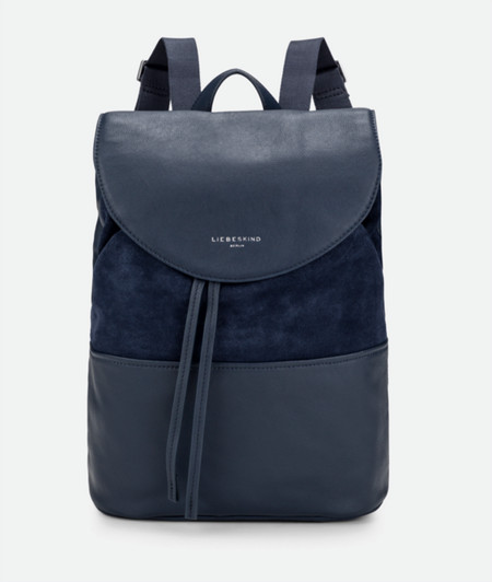 Backpack with a suede insert from liebeskind