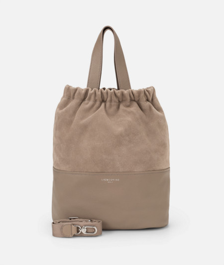 Tote bag with a suede insert from liebeskind