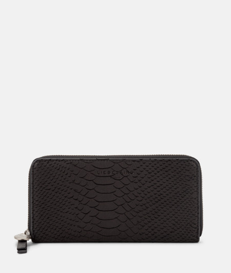 Purse with a laser-cut python pattern from liebeskind
