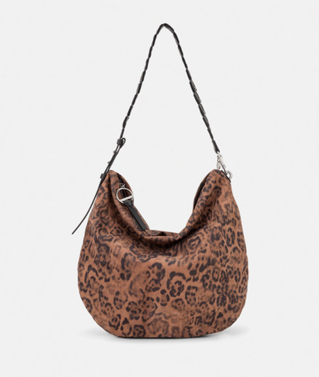 Hobo Bag mit Leopardenmuster