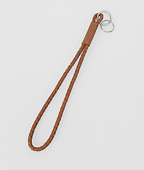 Curved, braided keyring from liebeskind