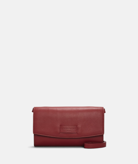 Clutch with slightly curved flap from liebeskind