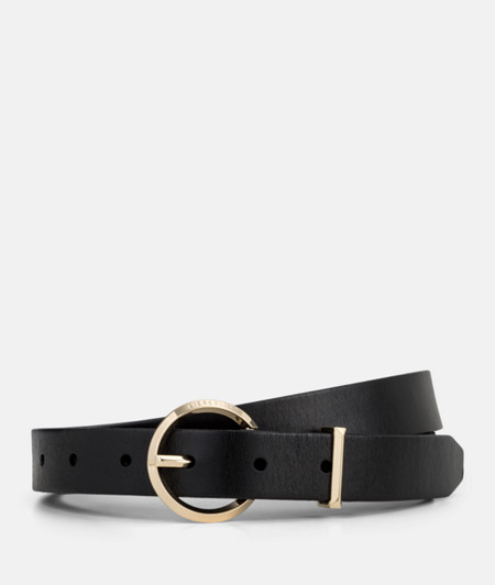Belt with a round pin buckle from liebeskind