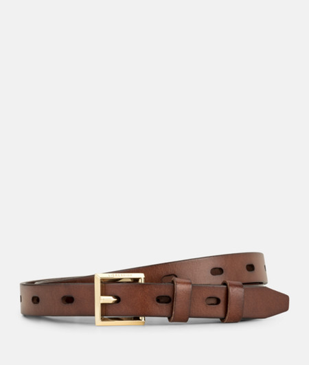 Belt with oval buckle holes from liebeskind