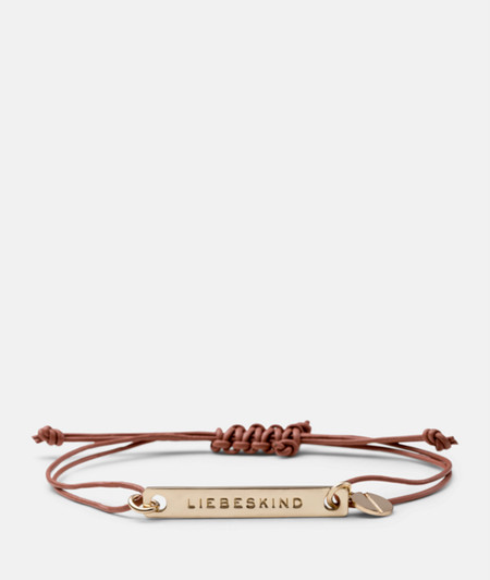 Bracelet with a logo tag from liebeskind