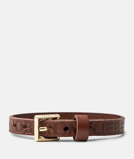 Bracelet en cuir doté d'un logo gravé de liebeskind