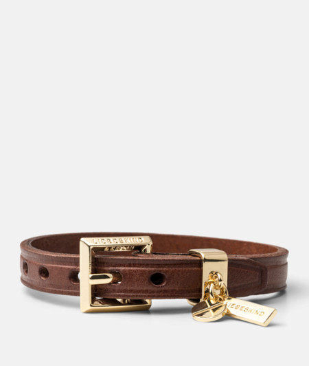 Leather bracelet with a logo tag from liebeskind