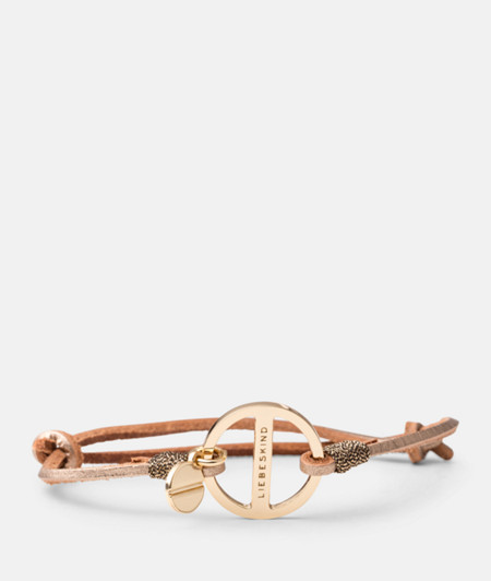 Bracelet with a metal signature ring from liebeskind