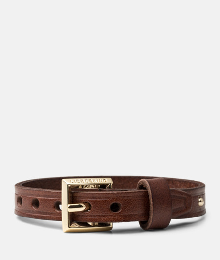 Leather bracelet with a fine stud trim from liebeskind
