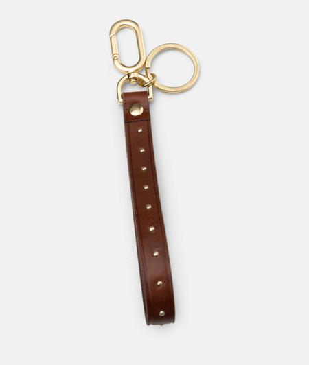 Bracelet en cuir orné de fins rivets de liebeskind