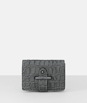 Belt wallet in a reptile-skin leather look from liebeskind