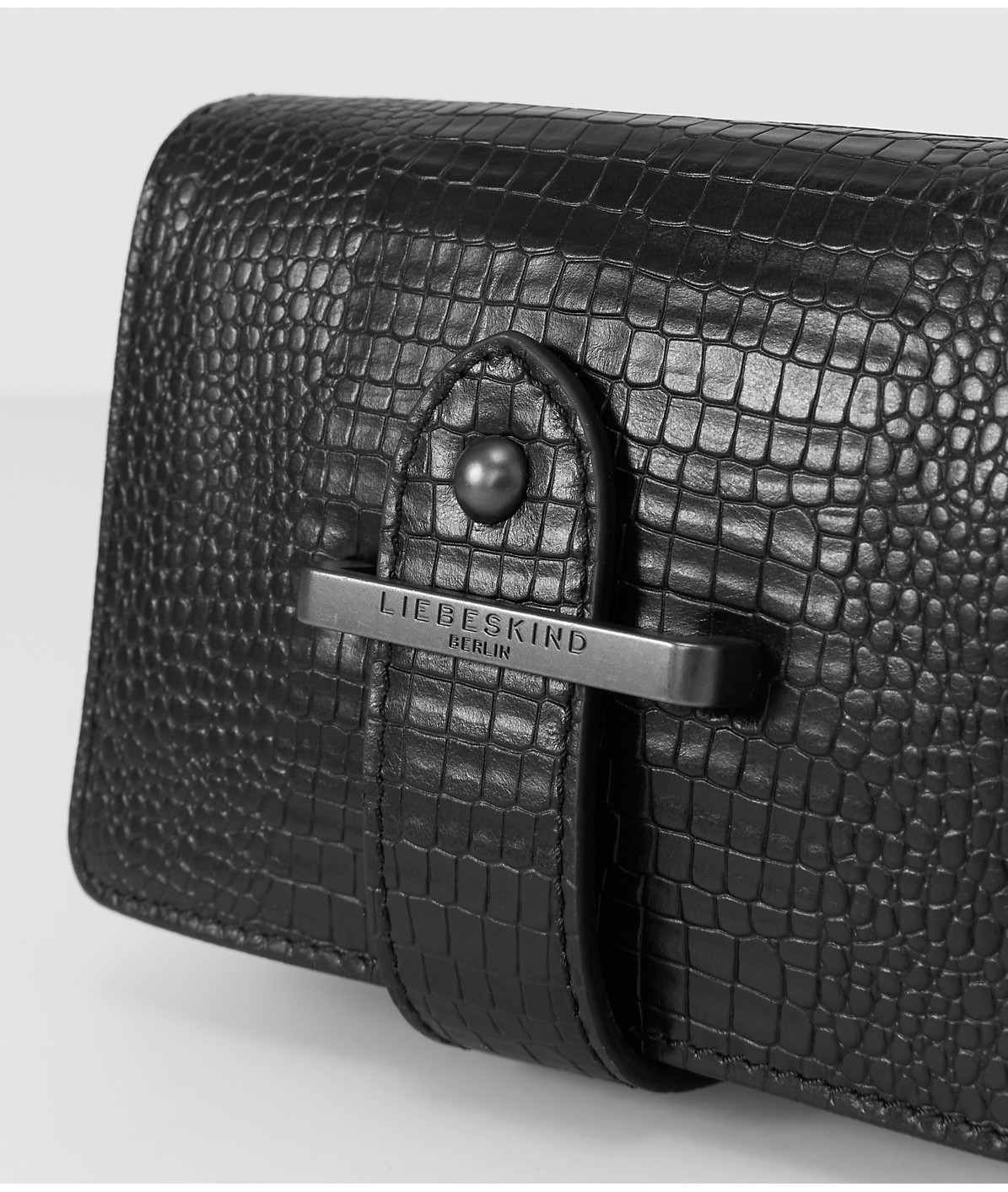 Clutch with a textured surface from liebeskind