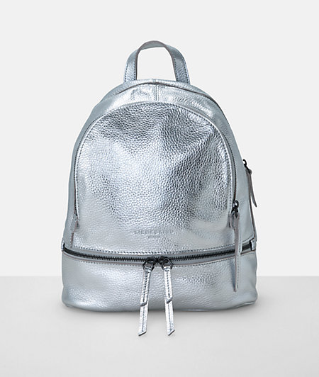 Metallic-look rucksack from liebeskind