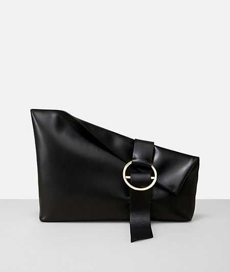 B Pouch clutch in a sleek nappa leather design from liebeskind