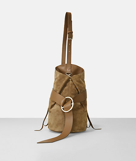 B Bag im edlen Wildleder-Design