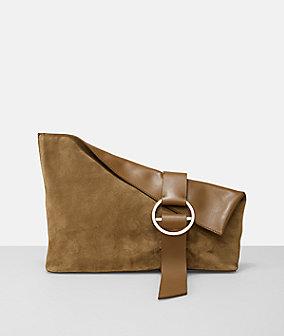 Clutch B Pouch im leger-eleganten Wildleder-Design