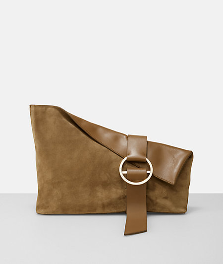 B Pouch clutch in a casual, elegant suede design from liebeskind