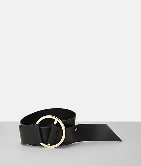 B Belt belt with a large, round metal buckle from liebeskind