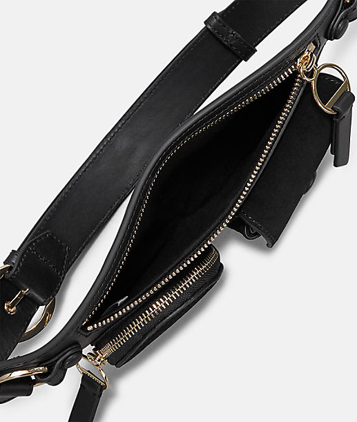 Belt bag with geometric front pockets  from liebeskind