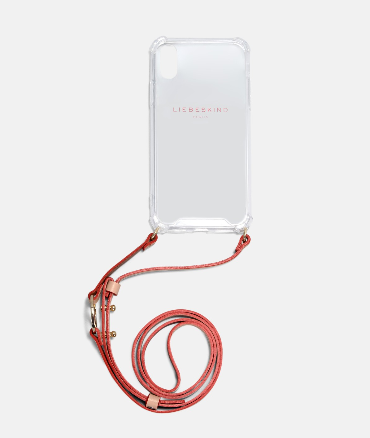 Mobile phone case with leather strap from liebeskind