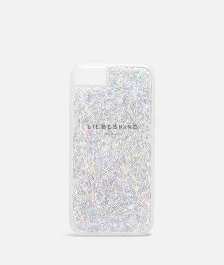 Coque pour smartphone flexible à paillettes de liebeskind