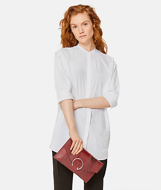 Fold-over clutch bag with a large metal ring from liebeskind