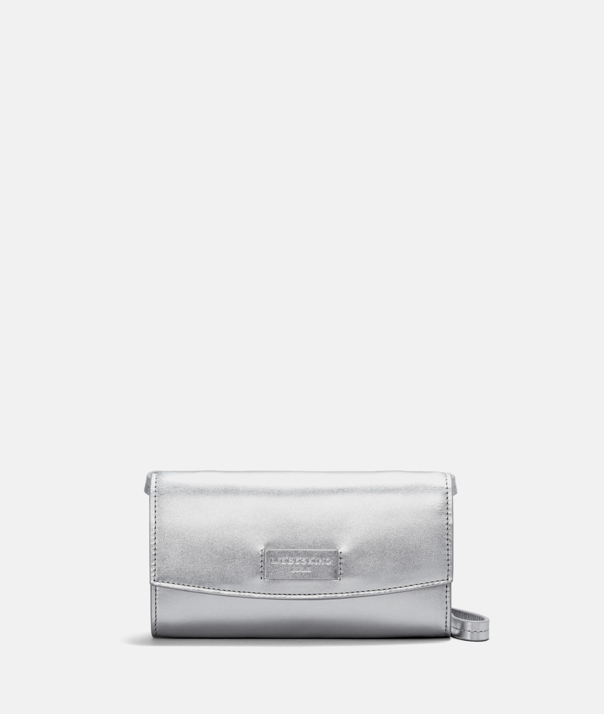 Shape-retentive leather clutch from liebeskind