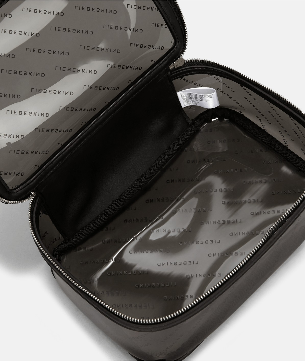 Transparent pouch with a logo print from liebeskind