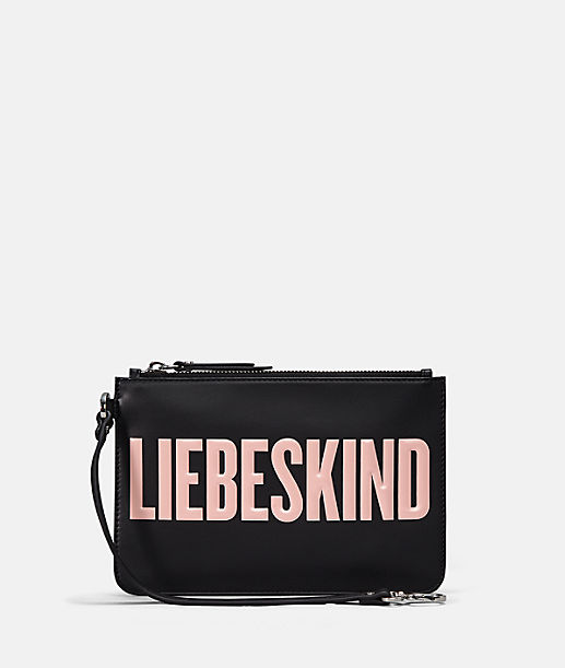 Flat make-up bag with logo lettering from liebeskind