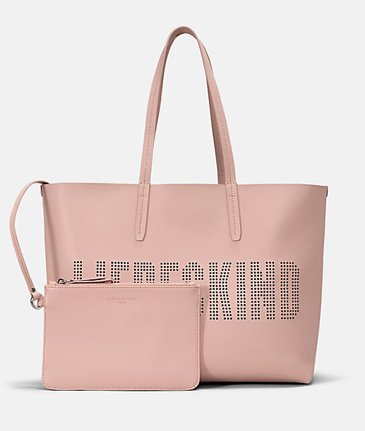 Shopper with perforated logo lettering from liebeskind