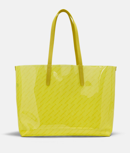 Transparenter Shopper mit Logoprint