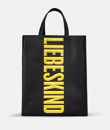 Tote bag with logo lettering from liebeskind