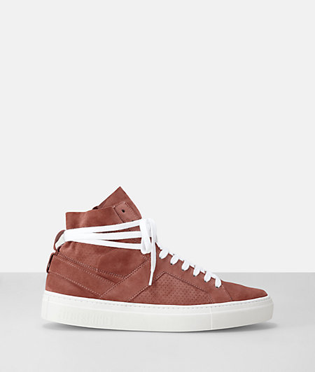 Suede leather high top sneaker from liebeskind