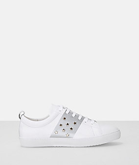 Star stud leather lace up sneaker from liebeskind