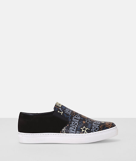 Slip on mit Graffiti-Print