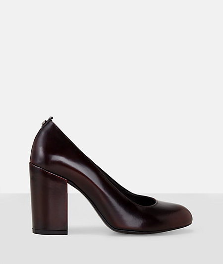 Court shoes with a block heel from liebeskind
