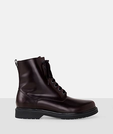 Patent leather look lace-up ankle boots from liebeskind