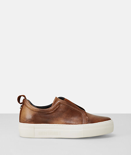 Patterned leather slip-ons from liebeskind