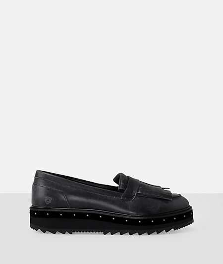 Kiltie loafers with fringed tongue from liebeskind