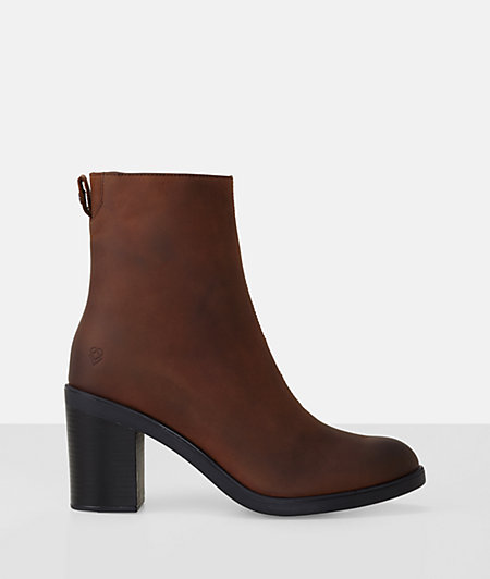 Waxed leather ankle boots from liebeskind