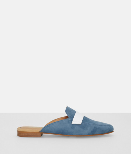 Slip-ons with white stripe from liebeskind